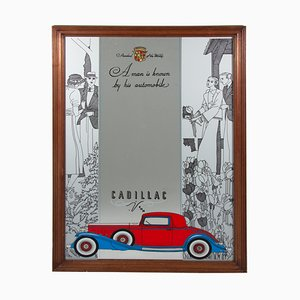 Miroir Cadillac Art Déco, 1940s