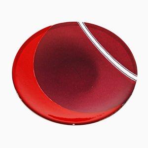 Centro de mesa de cristal de Murano rubí de Stefano Birello para VeVe Glass, 2019
