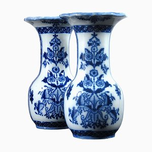 Antique Delft Vases by Petrus Regout
