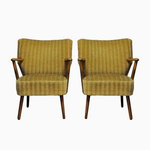 Mid-Century Fabric Armchairs, 1960s, Set of 2