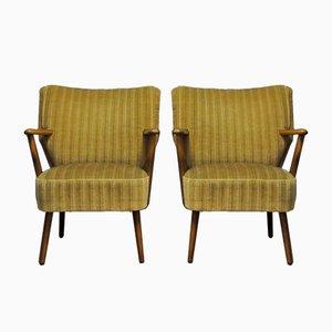 Mid-Century Sessel mit Stoffbezug 1960er, 2er Set