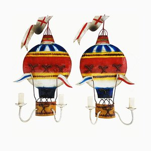 Montgolfière Wall Lights, 1950s, Set of 2