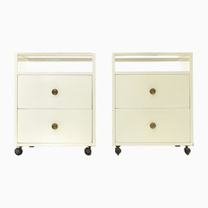 Italian Nightstands by Carlo de Carli for Luigi Sormani, 1950s, Set of 2
