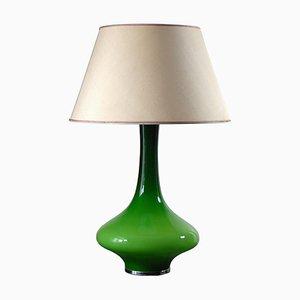 Green Glass Lamp, 1970s
