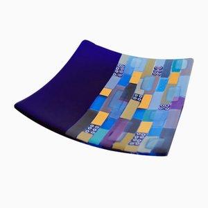 Murano Glass Bissona Q20 Plate by Stefano Birello for VéVé Glass