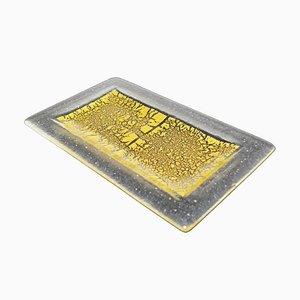 Piatto Cadoro R25 in vetro di Murano e foglia d'oro di Stefano Birello per VeVe Glass, 2019
