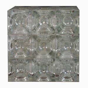 Italienische Tischlampe aus Glas von Albano Poli für Poliarte, 1970er