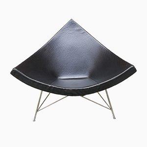 Schwarzer Coconut Ledersessel von George Nelson für Vitra, 1950er