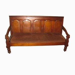 Antique Rustic Oak Bench