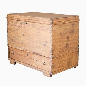 Mid-Century Rustic Plywood & Fir Chest, 1950s