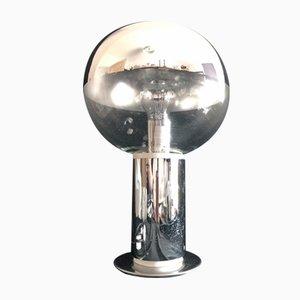 Lámpara de mesa era espacial de cromo y vidrio de Motoko Ishii para Staff, años 60