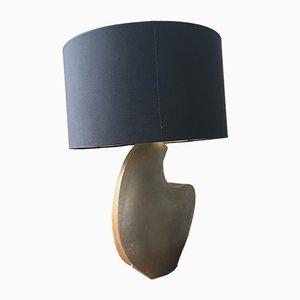 Lámpara de mesa francesa brutalista Mid-Century de cerámica, años 50