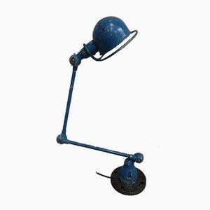 Lámpara de pie francesa industrial de aluminio y acero de dos brazos de Jieldé, años 60