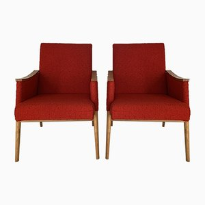 Beech Lounge Chairs, 1950s, Set of 2