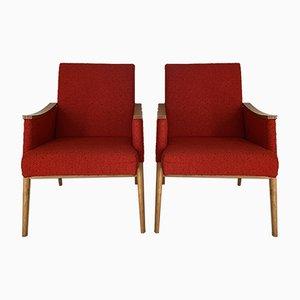 Beech Lounge Chairs, 1950s, Set of 2