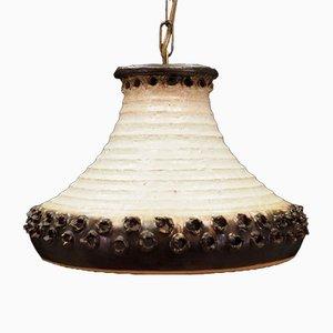 Dänische Vintage Deckenlampe aus Keramik, 1970er
