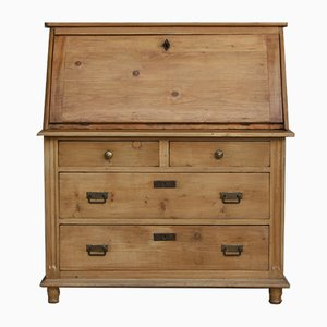 Antique German Softwood Secretaire