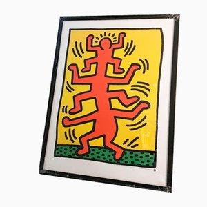 Offset Lithografie von Keith Haring für Neues, 1987