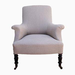 Antiker französischer Sessel mit Holzgestell