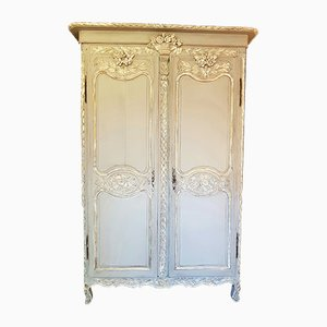Antique French Bronze & Oak Norman Wedding Wardrobe