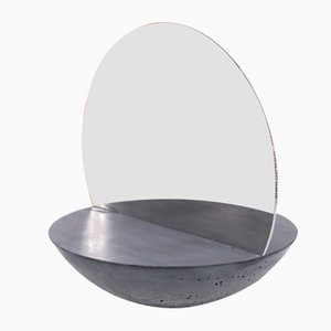 Concrete D30 Double-Sided Mirror by Valerio Ciampicacigli for Forma e Cemento