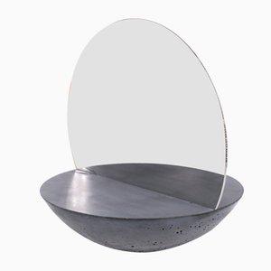 Doppelseitiger D30 Spiegel mit Betonfuß von Valerio Ciampicacigli für Forma e Cemento