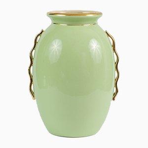 Vase Art Déco Vintage en Céramique par Raymond Chevalier pour Boch Frères