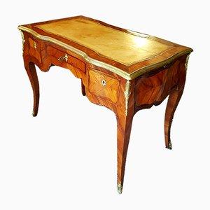 Antiker französischer Schreibtisch aus Bronze, Leder & Palisander