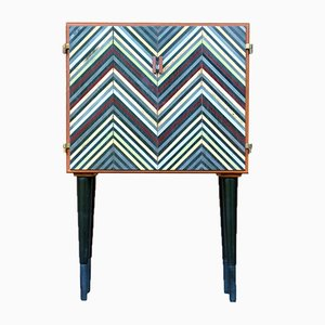 Mid-Century Danish Multicolored Teak Cabinet, 1960s