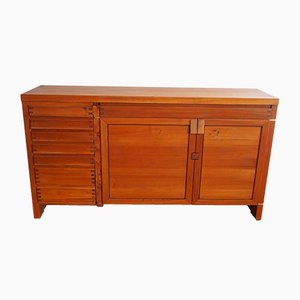 Vintage French Elm R 13 Sideboard by Pierre Chapo, 1980s