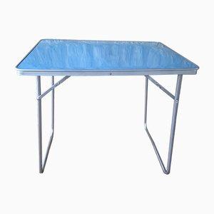 Tavolino Mid-Century in alluminio, compensato e formica, Francia, anni '60