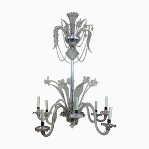 Italian Murano Glass Chandelier, 1930s