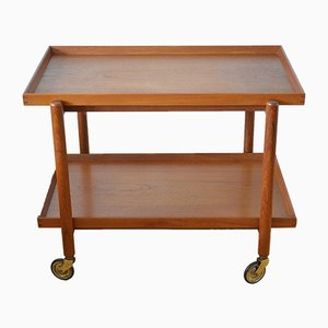 Scandinavian Modern Danish Teak Trolley by Poul Hundevad for Hundevad & Co., 1950s