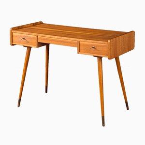 Deutscher Mid-Century Schreibtisch aus Nussholz, 1950er