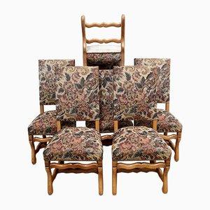 Mid-Century Esszimmerstühle mit Holzgestell, 1960er, 6er Set