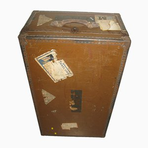 Antique Victorian Steamer Travel Trunk from Victor