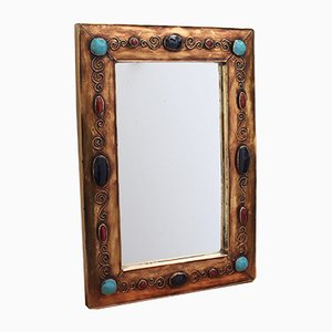 Vintage French Mirror by François Lembo, 1970s