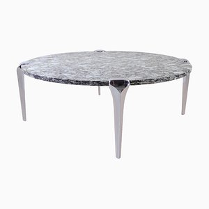 Grande Table Basse Ronde en Granite, 1970s