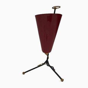 Mid-Century Italian Aluminum and Brass Table Lamp, 1950s