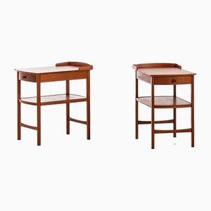 Tables d'Appoint en Acajou par Carl Malmsten pour Bodafors, 1950s, Set de 2