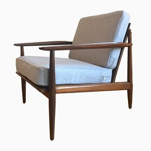 Danish Teak and Afromosia Lounge Chair by Arne Vodder for Glostrup, 1960s