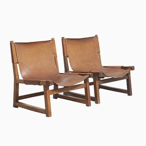 Riaza Hunting Chairs by Paco Muñoz for Darro, 1950s, Set of 2