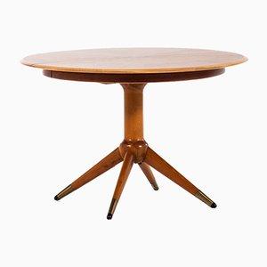 Mesa de comedor de haya de David Rosén para Nordiska Kompaniet, años 50
