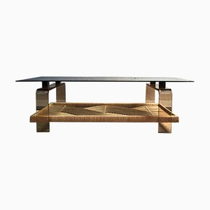 Glass, Plexiglas, and Wenge Coffee Table, 1960s