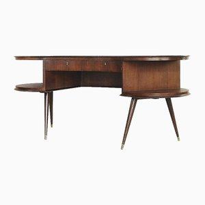 Mid-Century Schreibtisch aus Wengeholz, 1960er