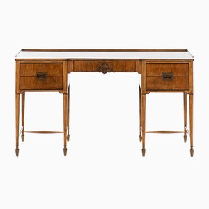 Mid-Century Danish Brass and Mahogany Desk, 1940s