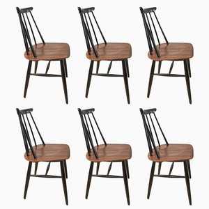 Chaises de Salle à Manger par Ilmari Tapiovaara pour Asko, 1960s, Set de 6
