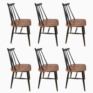 Esszimmerstühle von Ilmari Tapiovaara für Asko, 1960er, 6er Set