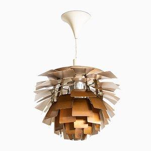 Lámpara de techo Artichoke danesa de cobre de Poul Henningsen, 1957