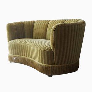 Dänisches 2-Sitzer Sofa mit Veloursbezug, 1950er